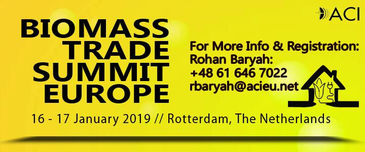 Biomass Trade Summit Europe 2019 | 16 – 17 Jan 2019 | Rotterdam, The  Netherlands